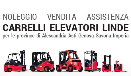 Noleggio vendita assistenza Carrelli elevatori linde per le province di Alessandria Asti Genova Savona Imperia