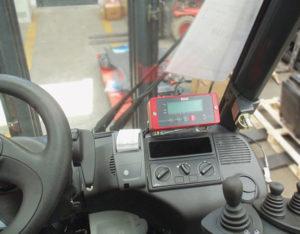 dettaglio sistema di pesatura mobile