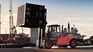 carrelli elevatori grossa portata con container