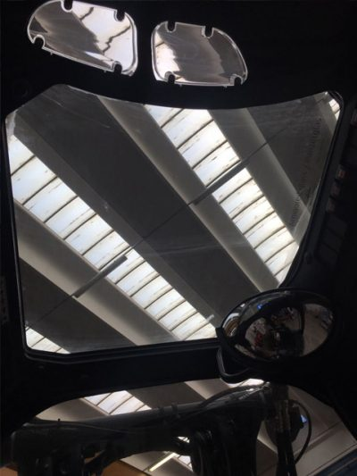 Tetto panoramico carrello elevatore