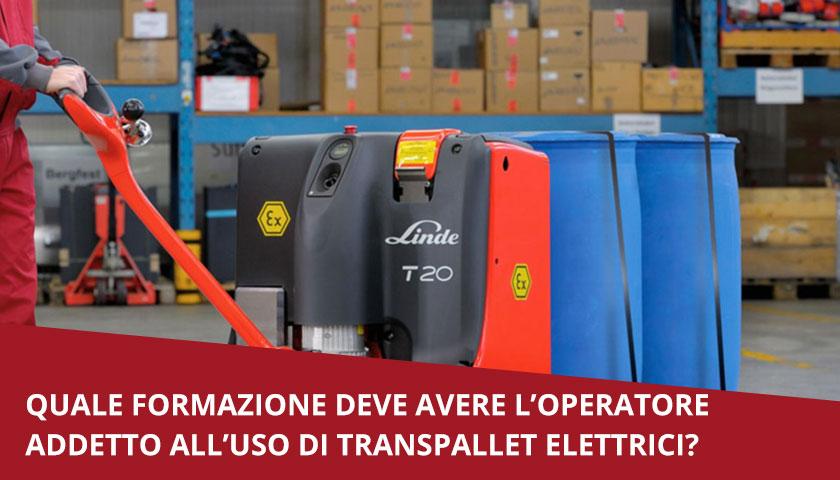 formazione transpallet elettrico