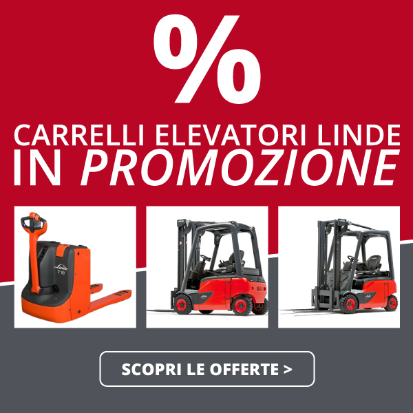 vendita carrelli elevatori scontati promo Linde